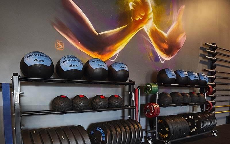 Un ballon de fitness à Mulhouse